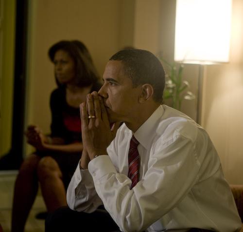 Barack Obama on Election night