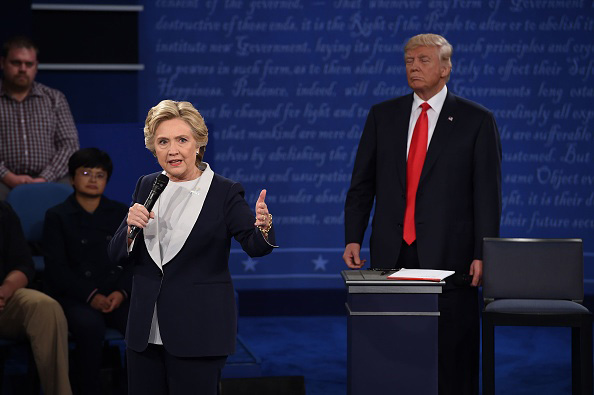Polls declare Clinton the winner of the second presidential debate