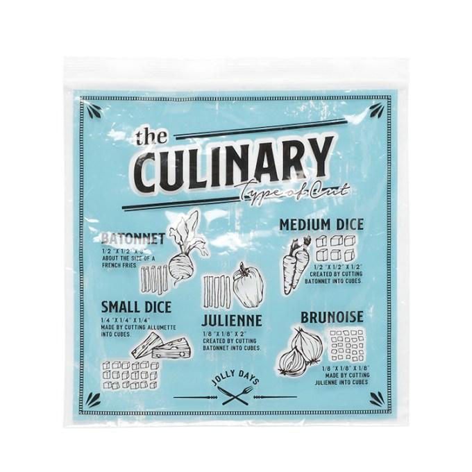 「ジップバッグ Culinary M」価格:130円/5枚入り/サイズ:W22×H22cm