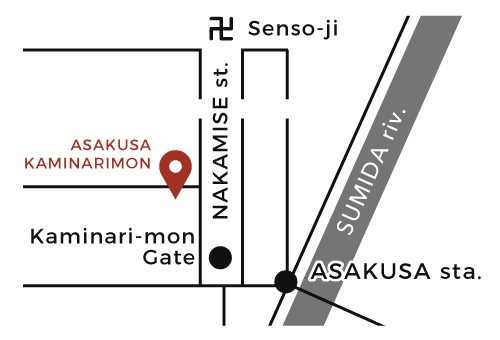 MAP ASAKUSA KAMINARIMON