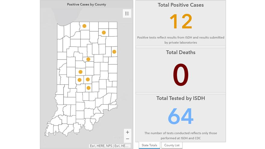 Health department confirms 12 COVID-19 cases in Indiana