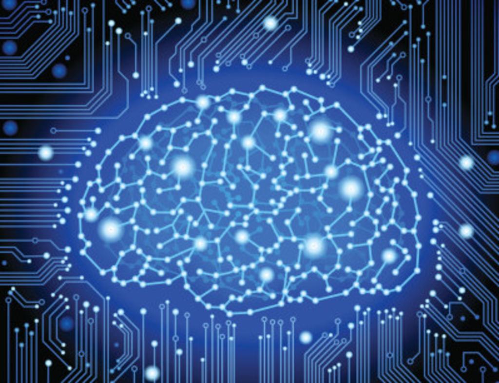 Artificial Intelligence Digital Brain Circuit Board