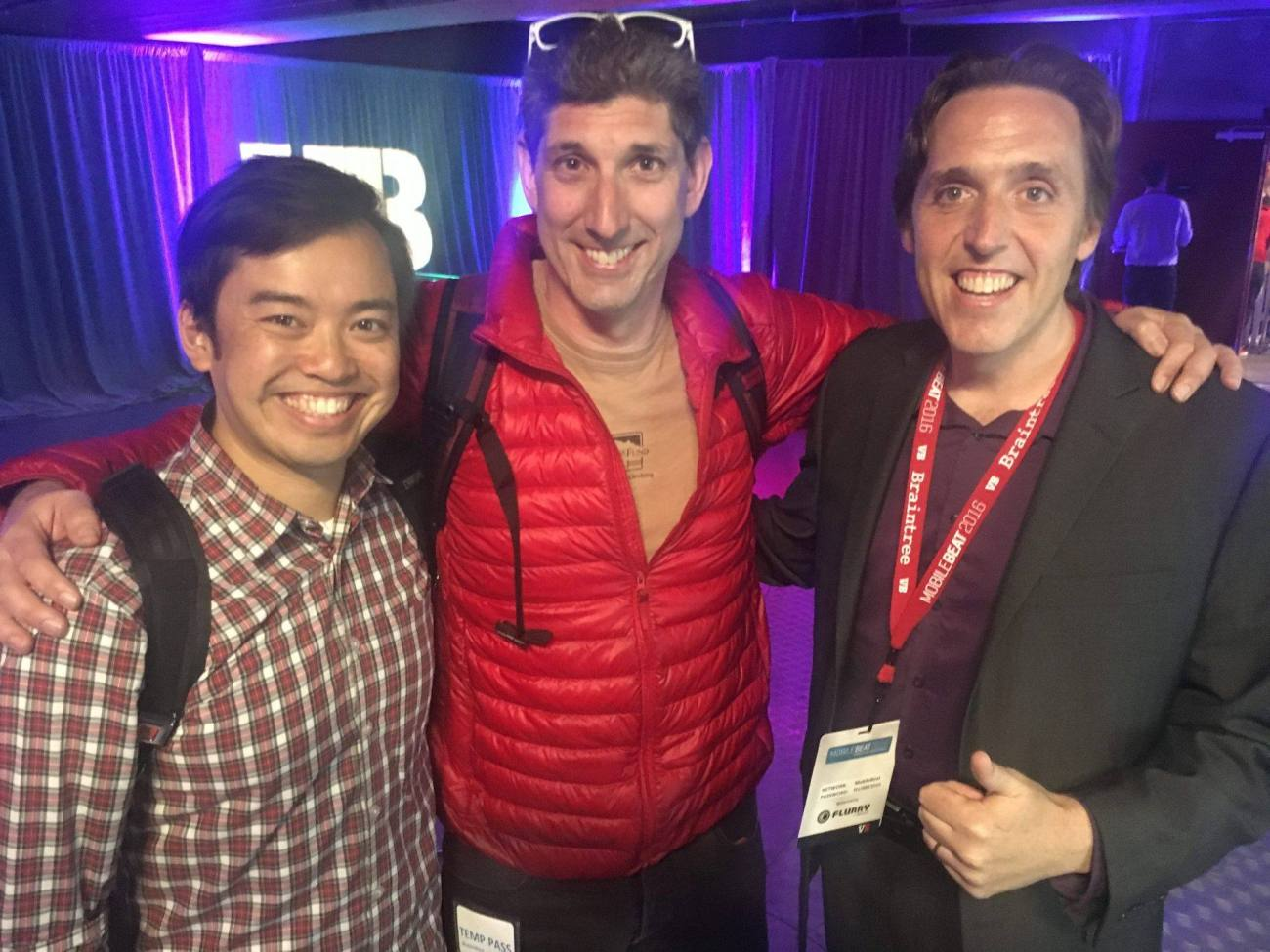 Dashbot Co-founders: Dennis Yang, Jesse Hull, Arte Merritt