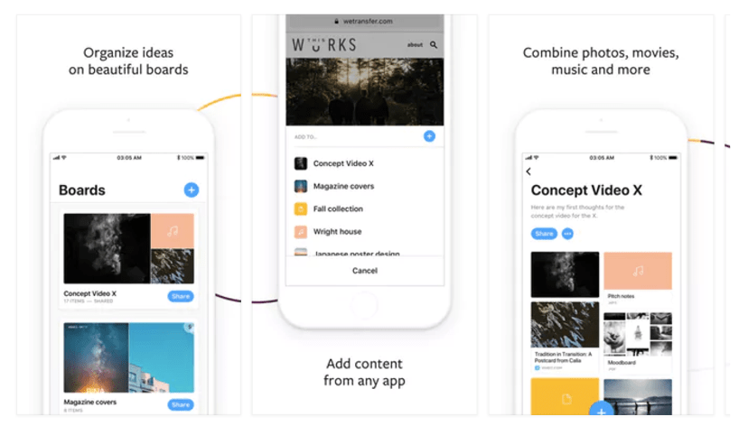 WeTransfer is a popular productivity product that allows users to share files of large sizes, and it is now available as an iOS app.