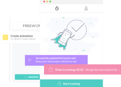 Freework is an Android and iPhone tool to help freelancers keep track of their work.