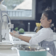 Autowater's easy-to-install kitchen and bathroom faucet adapters make regular faucets automatic, helping to prevent the spread of germs and lowering home water consumption.