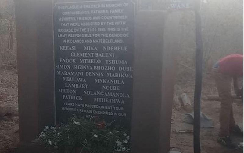 Another Gukurahundi Plaque Stolen in Silobela (News Central TV)