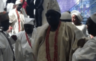 Ooni of Ife, Oba of Lagos reconcile at Obasanjo's son wedding in Lagos
