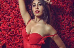 ruma sharma turns up the heat in red monokini