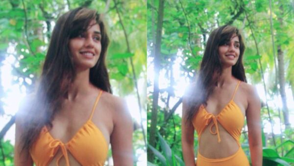 Disha Patani Scorches the Internet in orange Cut-out Monokini