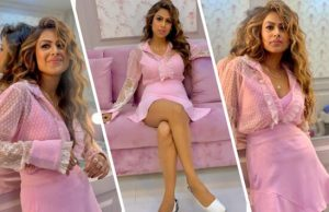 Nia Sharma looks gorgeous in this pink outfit
