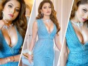 urvashi-rautela-shared-a-glamorous-video-in-a-slip-gown-dress