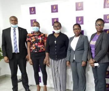 L-R: Nduneche Ezurike, Head, Strategic Brand Management, Polaris Bank; Peace Ibadin of National Lottery Regulatory Commission (NLRC); Susie Onwuka of Federal Competition and Consumer Protection Commission (FCCPC); Adebimpe Ihekuna, Group Head, Product & Market Development and Bukola Oluyadi, Acting Group Head, Customer Value Management & Strategic Communication, both of Polaris Bank at the 1st draw of the on-going Polaris Save & Win Promo which took place in Lagos on Tuesday.