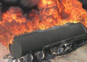 Many Feared Killed As Petrol Tanker Falls, Explodes In Ogun
