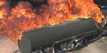 Many Feared Killed As Petrol Tanker Falls, Explodes In Ogun