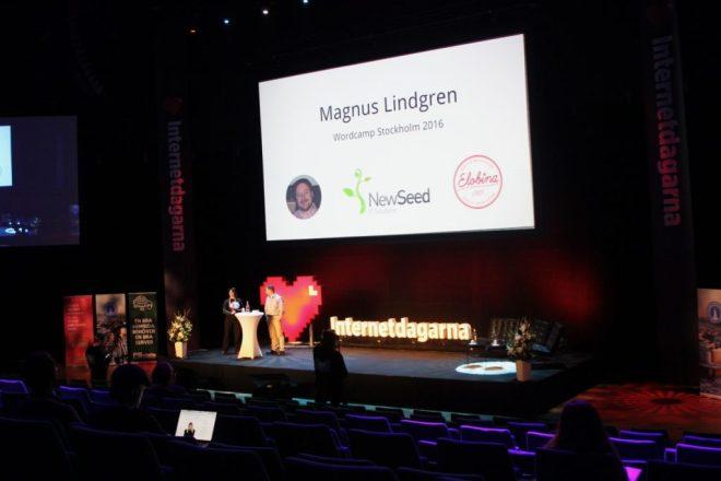 Magnus Lindgren talar på Internetdagarna / WordCamp 2016