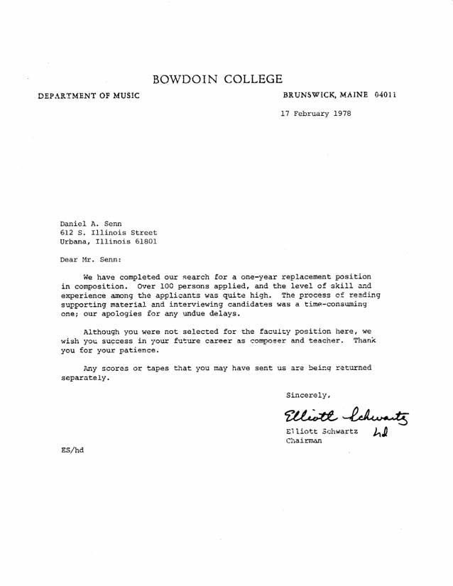 Vendor Bid Rejection Letter