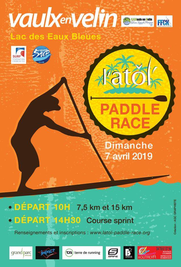 VAULX-EN-VELIN | 1° Atol' Paddle Race à Miribel-Jonage