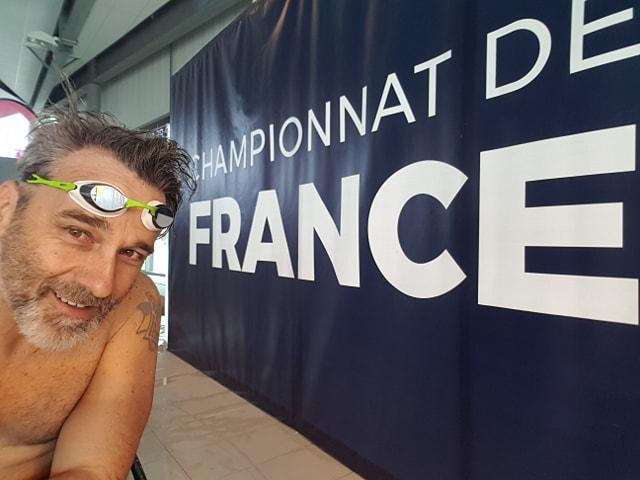 LYON   Frédéric Dubowyj double champion de France de natation handi