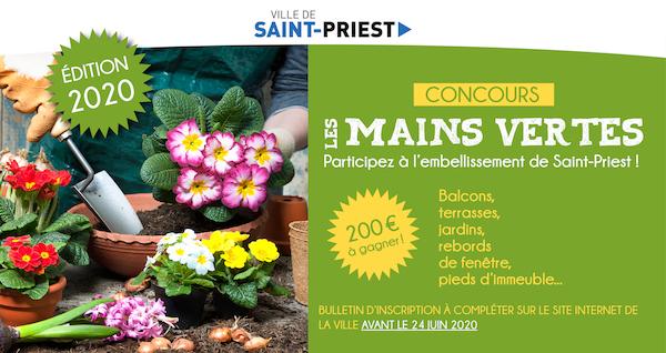 SAINT-PRIEST   Concours » Les mains vertes «
