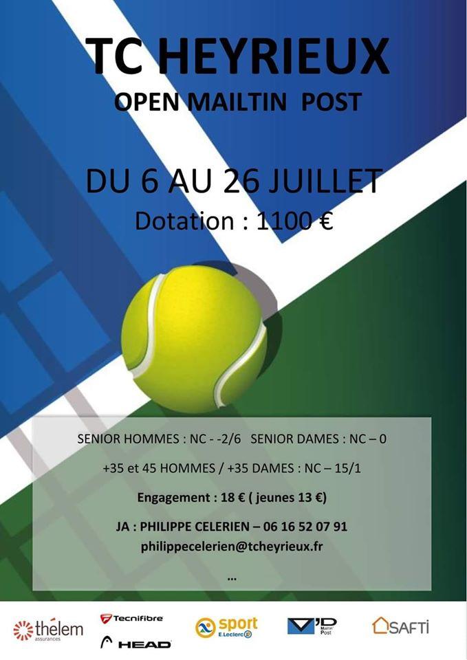 HEYRIEUX   Tournoi de tennis > les résultats de jeudi