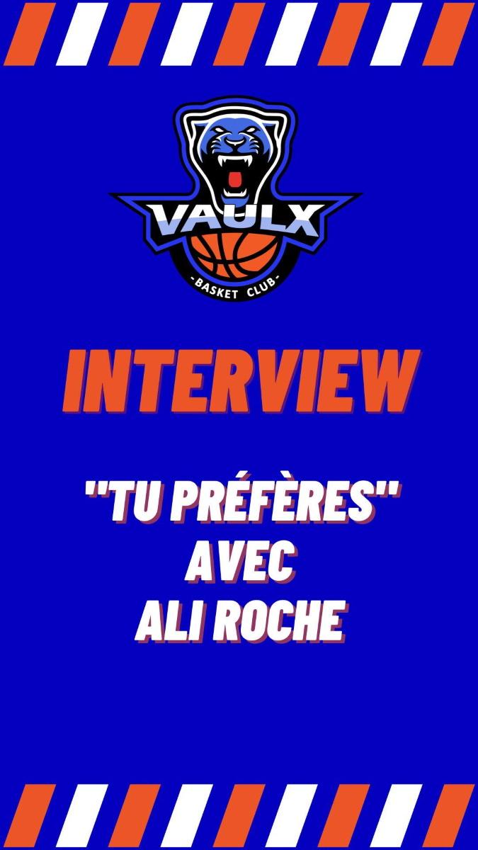 VAULX-EN-VELIN   Interviews de joueurs en vidéo Vaulx Basket