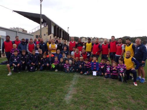 L'école de Rugby en visite au CSBJ