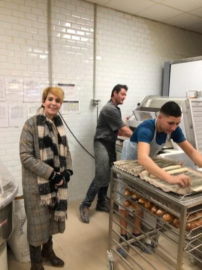 Visite dans l'emploi d'un apprenti Boulanger Antony de St Fons chez CELIK (Vaulx)