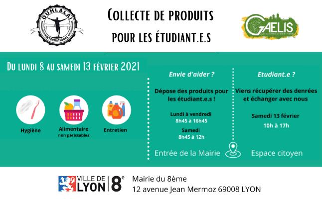 LYON 8   Collecte solidaire pour les étudiant.e.s