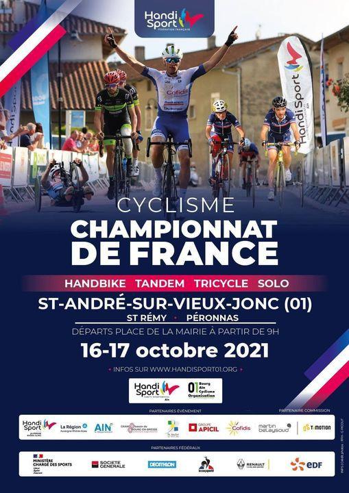 AIN | Championnats de France paracyclistes (16 & 17 oct.)