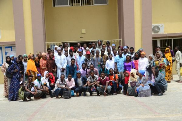 •Students of Information and Media Studies (Social Media) of Bayero University after Guest Lecture