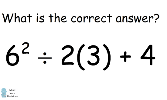 Viral Math Problem 6^2 ÷ 2(3) + 4? Correct Answer Explained