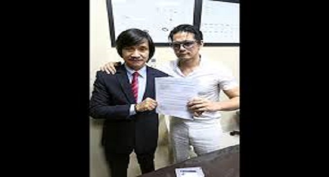 Robin Padilla with lawyer, Rudolf Jurado.