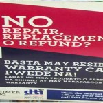Anti-No Return, No Exchange poster