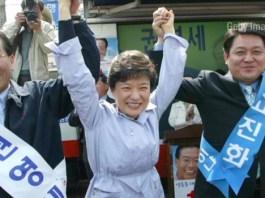 Koreans protest against their president
