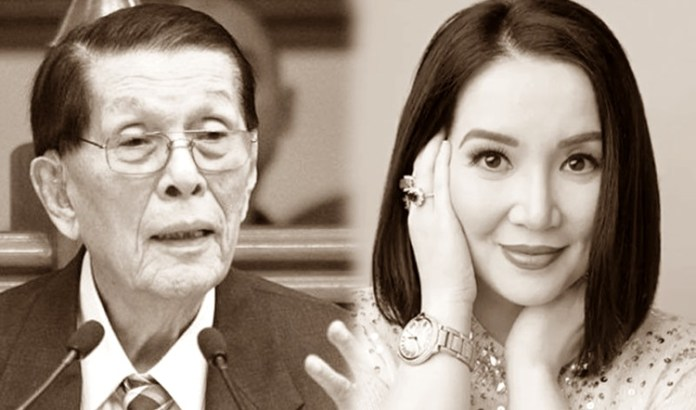 Senator Juan Ponce Enrile / Kris Aquino
