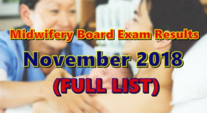 Midwifery Board Exam Results