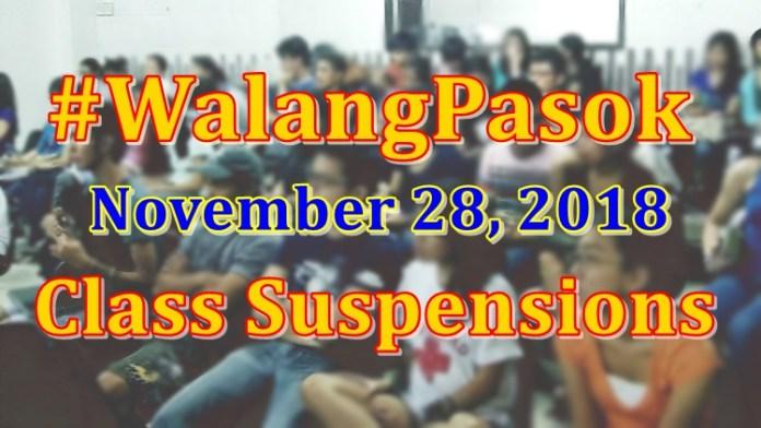 November 28 walang pasok class suspension