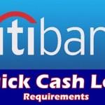 Citibank Quick Cash Loan Requirements