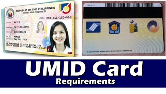 Requirements UMID CARD