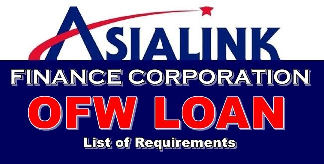 Asialink Finance OFW Loan