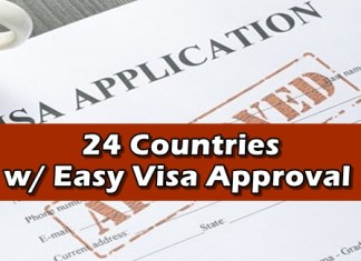 Countries with Visa Approval Easy