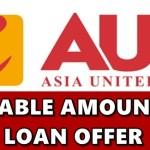 AUB Loan Loanable Amount