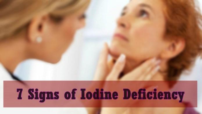iodine deficiency signs