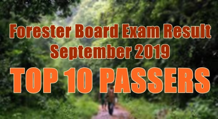 forester board exam top 10
