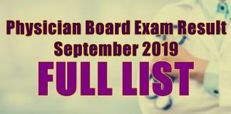 physician board exam full list