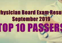 physician board exam top 10