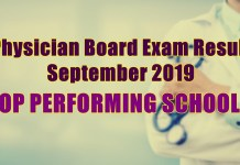 physician board exam top schools