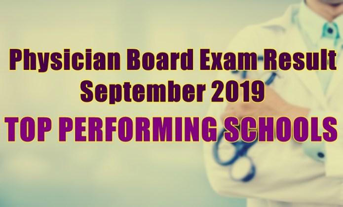 physician board exam top schools