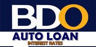 BDO Auto Loan Interest Rates